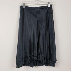 100% Silk Black Skirt NWOT Size 8